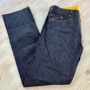 Geo Custom Raw Denim Jeans